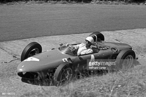 Phil Hill Ferrari 156 Sharknose Grand Prix of Germany Nurburgring 06 August 1961 Phil Hill driving his Ferrari 156 on the famous Karussell corner at...
