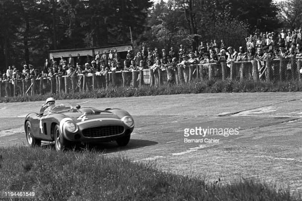 Phil Hill, Ferrari 290 MM, Nürburgring 1000 Kilometres, Nurburgring Nordschleife, 27 May 1956.