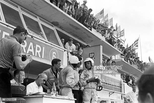 Phil Hill Olivier Gendebien 24 Hours of Le Mans Le Mans 24 June 1962 The Ferrari 330 TRI/LM of Phil Hill and Olivier Gendebien which they drove to...