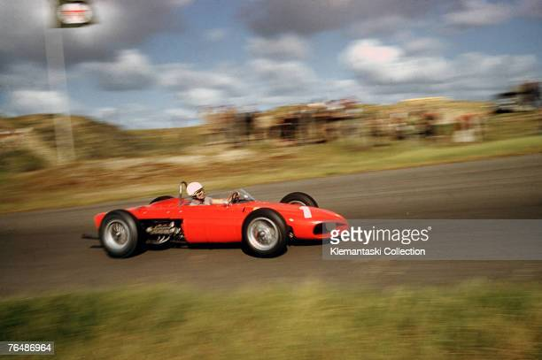 Phil Hill on his way to his World Championship in the Ferrari 156/F1during the Dutch Grand Prix at Zandvoort, 22nd May 1961.