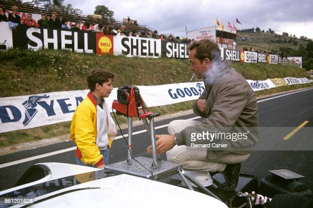 Phil Hill PaulHenri Cahier Shelby Cobra 427 'Grand Prix' film Charade Circuit 07 September 1966 Phil Hill and a young PaulHenri Cahier future racing...