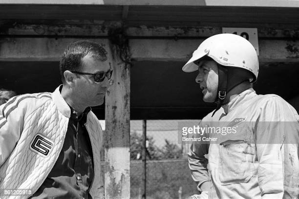 Phil Hill Ray Geddes 1000 Km of Nürburgring Nurburgring 23 May 1965 Phil Hill with Ford representative to Shelby Racing Ray Geddes