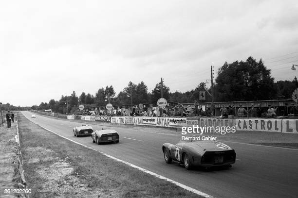 Phil Hill Richie Ginther Ricardo Rodriguez Ferrari 250 Testa Rossa 61 24 Hours of Le Mans Le Mans 06 November 1961 Phil Hill and Olivier Gendebien...