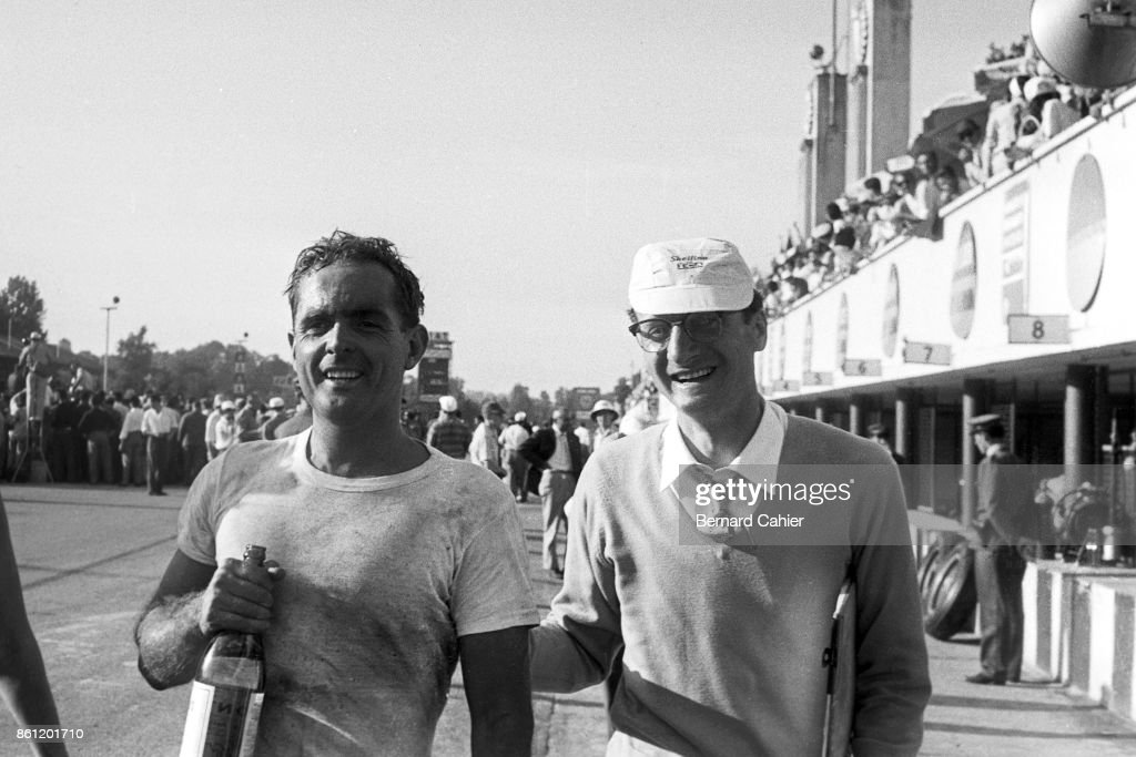 Phil Hill, Romolo Tavoni, Race Of Two Worlds : News Photo
