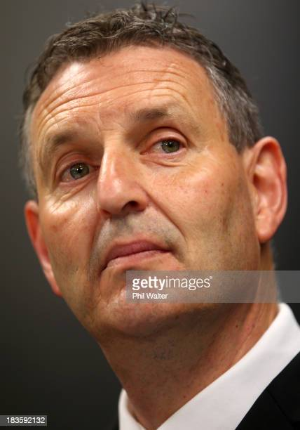 Phil Holden looks on during the New Zealand Kiwis Rugby League World Cup Squad Announcement at Rugby League House on October 8 2013 in Auckland New...