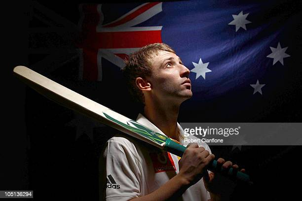 Phil Hughes of Australia poses for a portrait during the Cricket Australia player camp at the Hyatt Coolum on August 23 2010 in Coolum Beach Australia