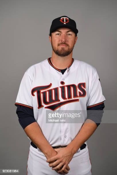 Phil Hughes of the Minnesota Twins poses during Photo Day on Wednesday February 21 2018 at CenturyLink Sports Complex in Fort Myers Florida
