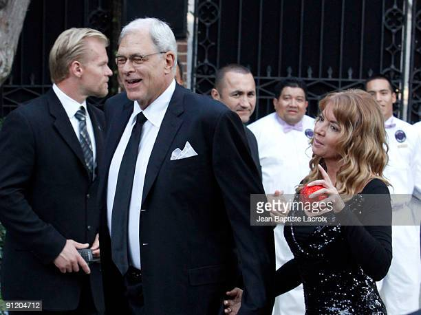 Phil Jackson and Jeanie Buss attend the wedding of Khloe Kardashian and LA Lakers forward Lamar Odom at the Bel Air estate of music mogul Irving...