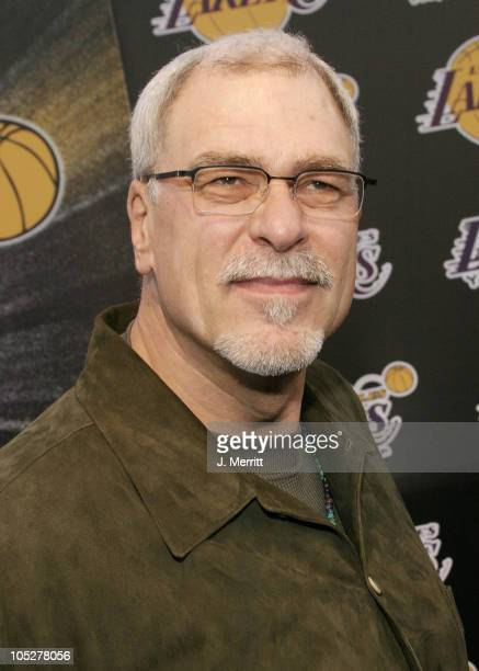 Phil Jackson during 1st Annual Palms Casino Royale to Benefit The Lakers Youth Foundation at Barker Hangar in Santa Monica California United States