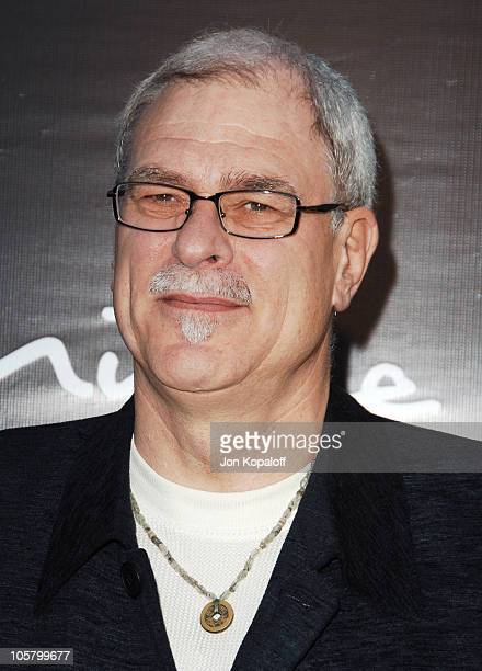 Phil Jackson during The 3rd Annual Lakers Casino Night Arrivals at Barker Hangar in Santa Monica California United States