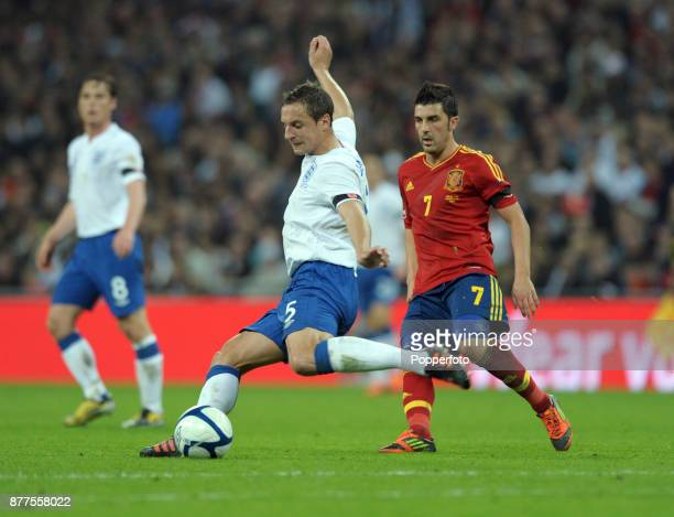 Phil Jagielka of England in action during the International Friendly match between England and Spain at Wembley Stadium on November 12 2011 in London...