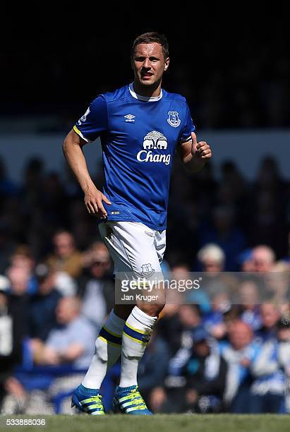 Phil Jagielka of Everton during the Barclays Premier League match between Everton and Norwich City at Goodison Park on May 15 2016 in Liverpool...