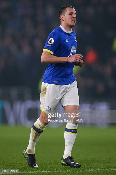 Phil Jagielka of Everton during the Premier League match between Hull City and Everton at KC Stadium on December 30 2016 in Hull England