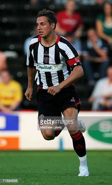 Phil Jagielka of Sheffiled United during the Preseason Friendly match between Rotherham and Sheffield United at Millmoor on July 28 2006 in Rotherham...