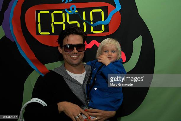 Phil Jamieson from Grinspoon with daughter Lyla backstage at Splendour in the Grass festival Byron Bay Saturday August 4th First day of the twoday...