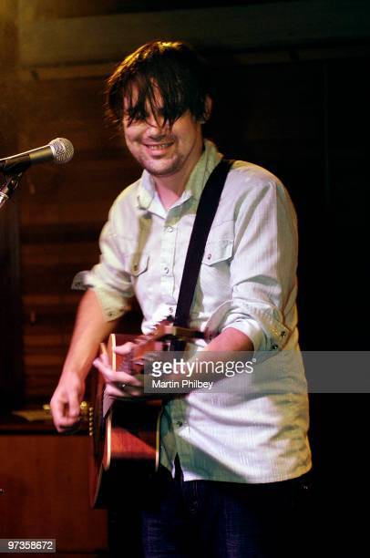 Phil Jamieson of Grinspoon performs on stage at Maton Up Close and Personal at the Doutagala Hotel on 28th July 2005 in Melbourne Australia