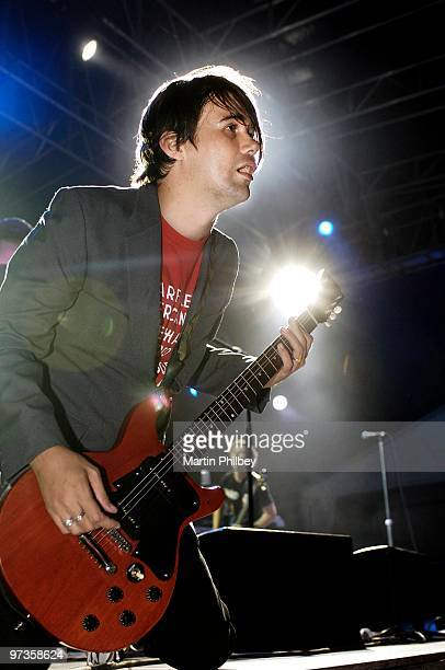 Phil Jamieson of Grinspoon performs on stage at Pyramid Rock Festival in Phillip Island on 30th December 2005 in Melbourne Australia