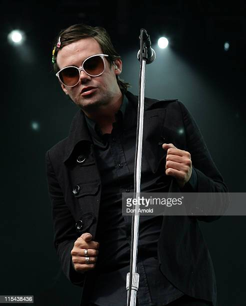 Phil Jamieson of Grinspoon performs on stage during the Sydney Big Day Out at the Sydney Showgrounds on January 25 2008 in Sydney Australia
