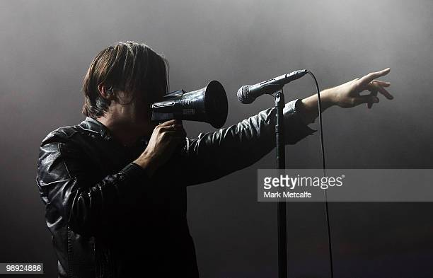 Phil Jamieson of the band Grinspoon performs on stage during Groovin The Moo Festival 2010 at the Maitland Showground on May 8 2010 in Maitland...