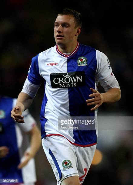 Phil Jones of Blackburn Rovers in action during the Barclays Premier League match between Blackburn Rovers and Birmingham City at Ewood Park on March...