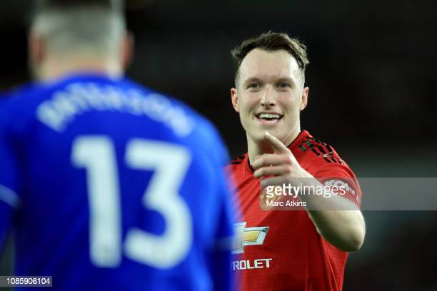 Phil Jones of Manchester United during the Premier League match between Cardiff City and Manchester United at Cardiff City Stadium on December 22...