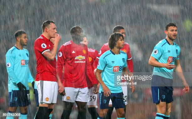 Phil Jones of Manchester United looks on during the Premier League match between Manchester United and AFC Bournemouth at Old Trafford on December 13...