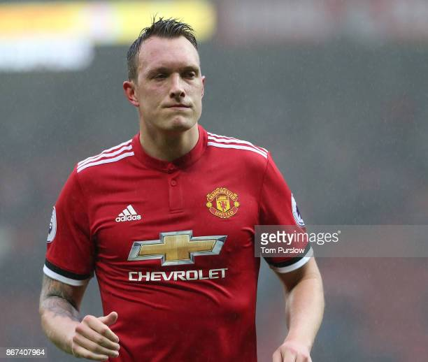 Phil Jones of Manchester United walks off after the Premier League match between Manchester United and Tottenham Hotspur at Old Trafford on October...