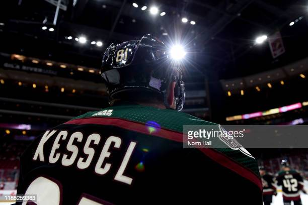 Phil Kessel of the Arizona Coyotes prepares for a game against the Colorado Avalanche at Gila River Arena on November 02 2019 in Glendale Arizona