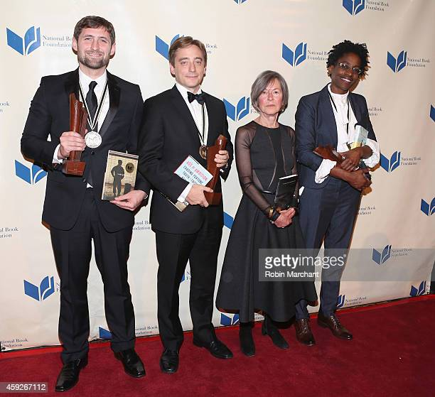 Phil Klay, Evan Osnos, Louise Gluck and Jacqueline Woodson attend 2014 National Book Awards on November 19, 2014 in New York City.