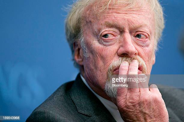 Phil Knight chairman and cofounder of Nike Inc listens during a panel discussion at the Brookings Institution in Washington DC US on Tuesday Jan 15...