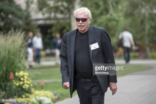 Phil Knight chairman emeritus and cofounder of Nike Inc arrives for the morning sessions during the Allen Co Media and Technology conference in Sun...