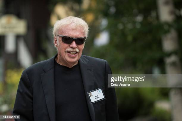 Phil Knight cofounder and chairman emeritus of Nike attends the fourth day of the annual Allen Company Sun Valley Conference July 14 2017 in Sun...