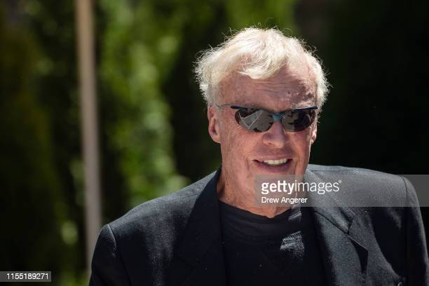 Phil Knight cofounder and chairman emeritus of Nike attends the annual Allen Company Sun Valley Conference July 11 2019 in Sun Valley Idaho Every...