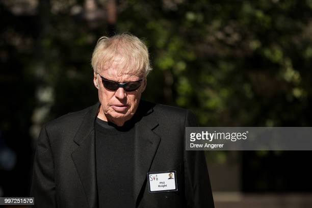 Phil Knight cofounder and chairman emeritus of Nike attends the annual Allen Company Sun Valley Conference July 12 2018 in Sun Valley Idaho Every...