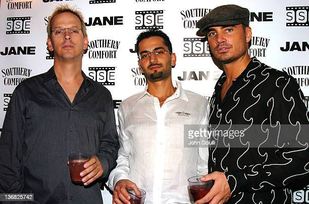 Phil Laak Antonio Esfandiari and Adam Kavali during Jane Magazine Poker Night at Guis in Los Angeles California United States