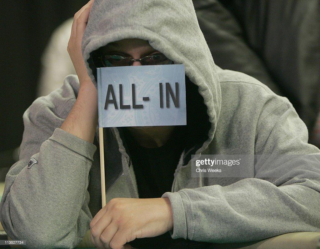 Phil Laak 'The Unibomber' during World Poker Tour Invitational at Commerce Casino in Commerce, California, United States.