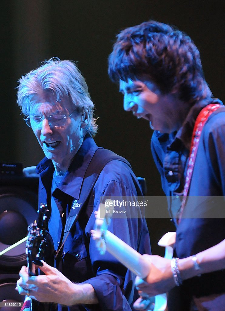 Phil Lesh and Friends performs on the Odeum Stage during the Rothbury Music Festival 08 on July 6, 2008 in Rothbury, Michigan.
