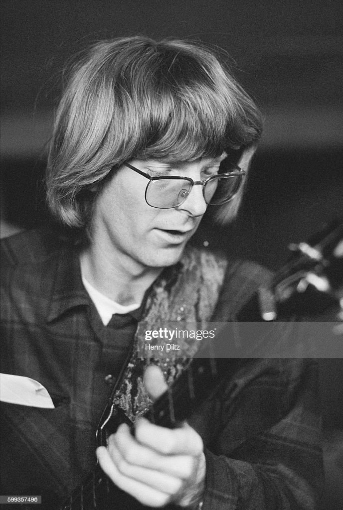 Phil Lesh, bass guitarist for the Grateful Dead, during a rehearsal jam session at the home of Grace Slick and Paul Kantner (both of Jefferson Airplane) in Bolinas, California. Lesh, along with other noted musicians, is assisting David Crosby in his upcoming solo album.