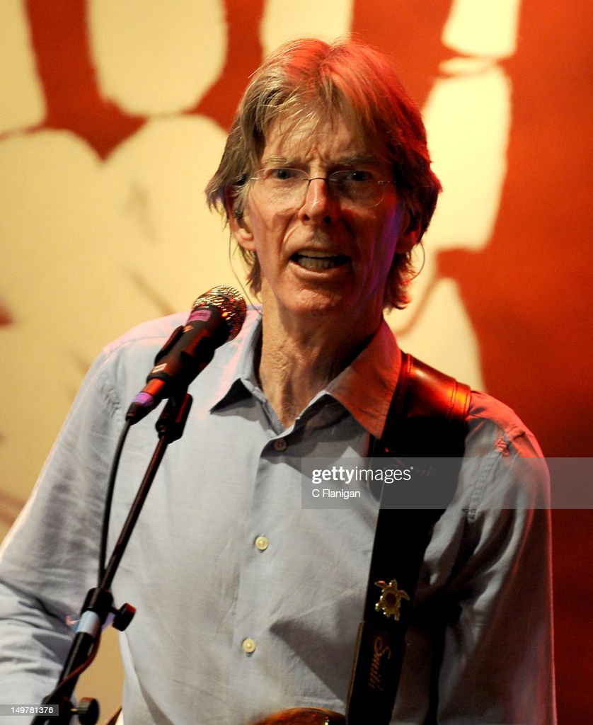 Phil Lesh of The Grateful Dead performs during the 'Move Me Brightly' 70th Birthday Tribute for Jerry Garcia at TRI Studios on August 3, 2012 in San Rafael, California.