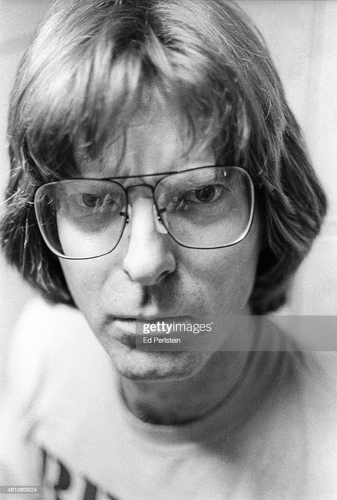 Phil Lesh of The Grateful Dead poses backstage at Robertson Gym on February 27, 1977 at U.C Santa Barbara.