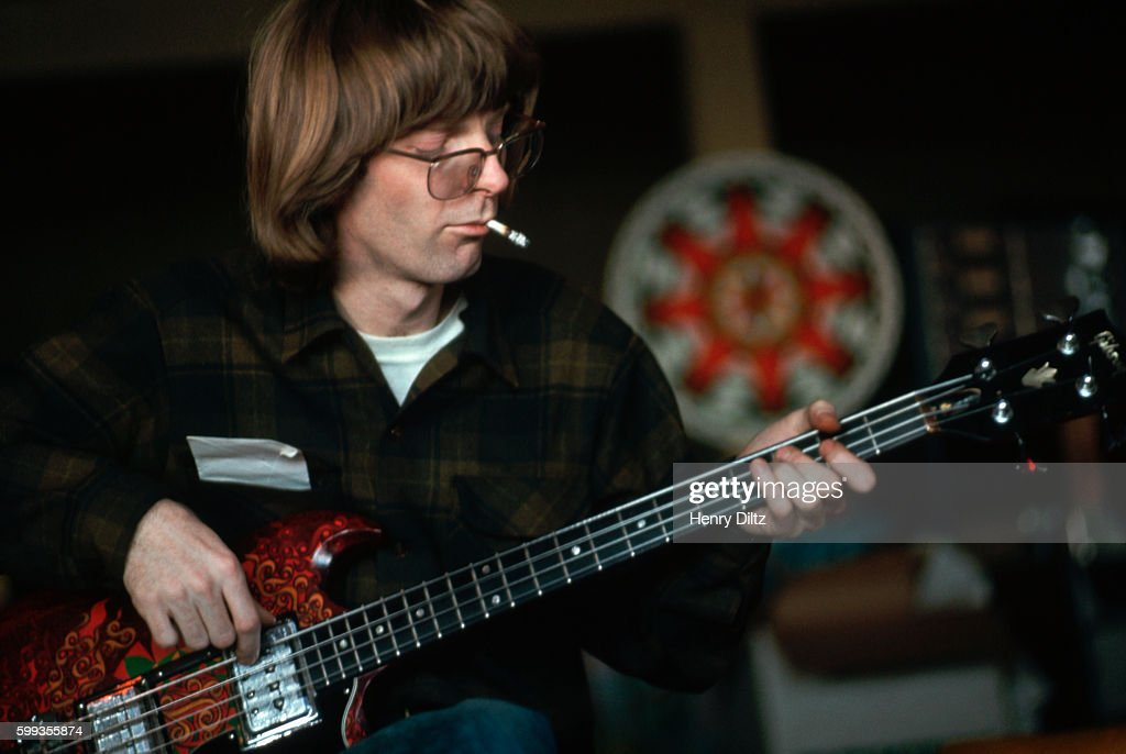 Phil Lesh plays bass during a rehearsal for David Crosby's solo album.