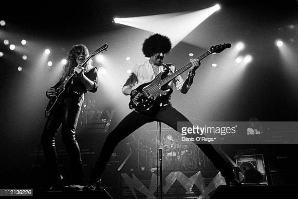 Phil Lynott and John Sykes of Thin Lizzy live UK 1982