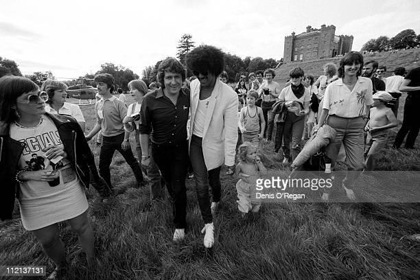 Phil Lynott of Thin Lizzy at Slane Castle January 1981