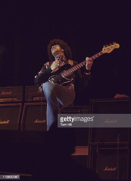Phil Lynott of Thin Lizzy during Thin Lizzy Plays the Omni Coliseum February 21 1977 at Omni Coliseum in Atlanta Georgia United States