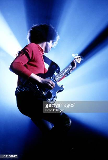 Phil Lynott of Thin Lizzy live circa 1981