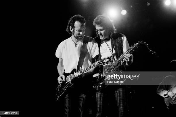 Phil Manzanara and Andy McKay of Roxy Music at the UIC Pavilion in Chicago Illinois May 14 1983