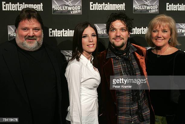Phil Margera Missy Margera Bam Margera and April Margera attend the Entertainment Weekly Academy Awards viewing party at Elaine's on February 25 2007...