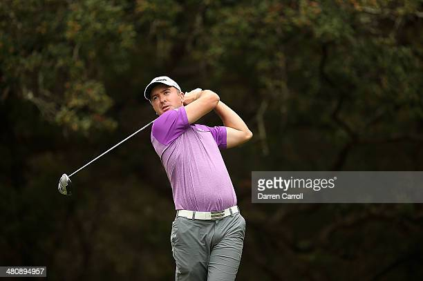 Phil Martin Laird tees off on the 14th during Round One of the Valero Texas Open at the ATT Oaks Course on March 27 2014 in San Antonio Texas