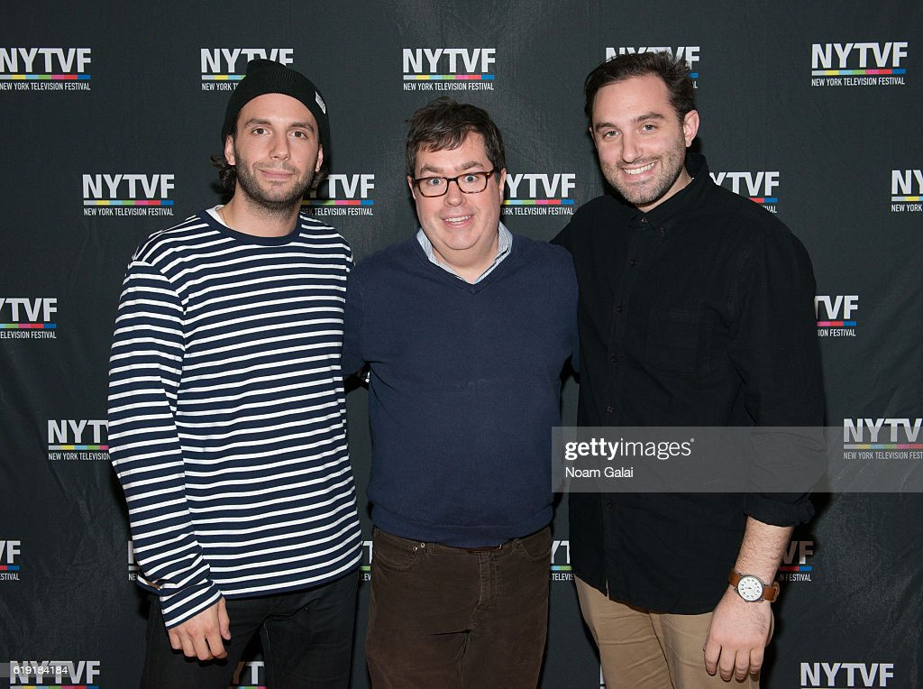 Phil Matarese, founder of New York Television Festival Terence Gray and Mike Luciano attend the NYTVF Development Day panels during the 12th Annual New York Television Festival at Helen Mills Theater on October 29, 2016 in New York City.