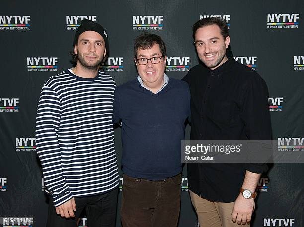 Phil Matarese founder of New York Television Festival Terence Gray and Mike Luciano attend the NYTVF Development Day panels during the 12th Annual...